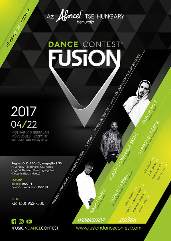 Fusion Dance Contest 2017 Flyer